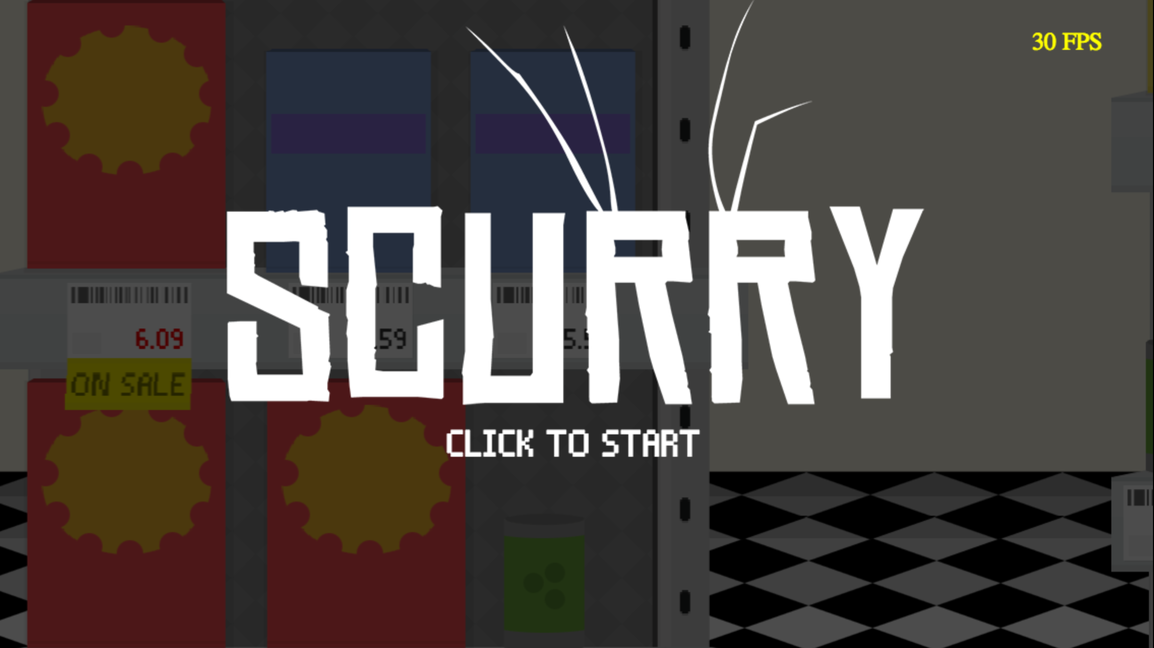 Scurry Title screen