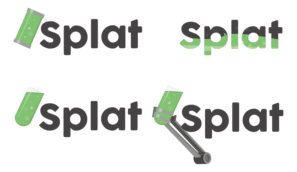 Two Scoop Games Splat Engine logo ideas
