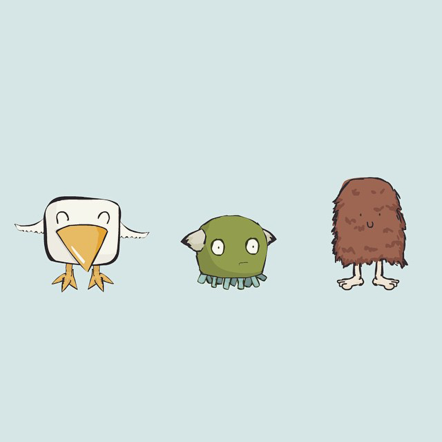 Daily Drawing 365 - vector monsters by Alex Bezuska