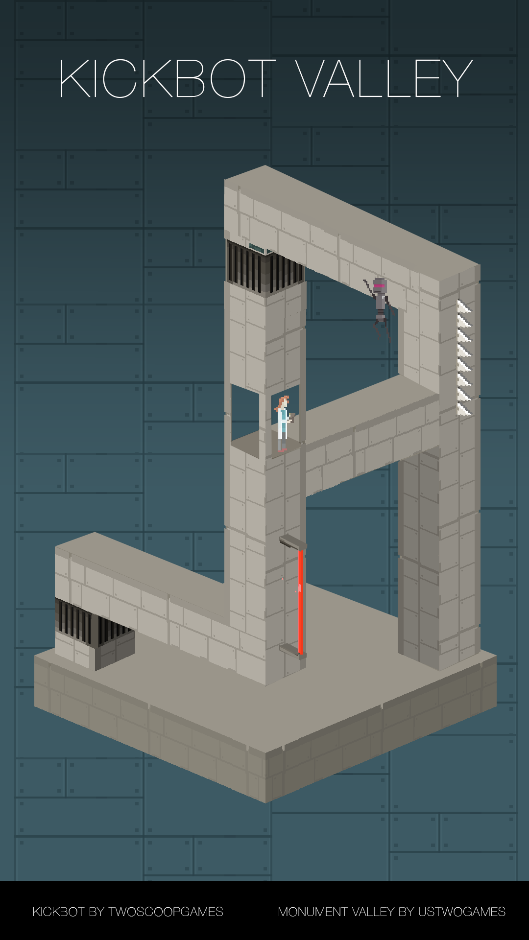 Monument Valley Kickbot fan art mashup by Alex Bezuska