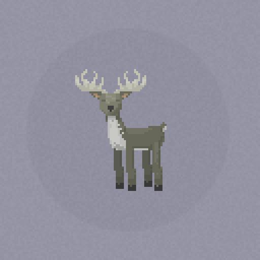 Thing A Day - Pixel art deer by Alex Bezuska